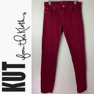 Kut from the Kloth wine red skinny jeans size 10
